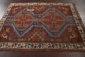 Pre-1900 Antique Ghashghaie Persian Area Rug 5x6 image 14