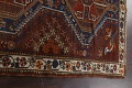 Pre-1900 Antique Ghashghaie Persian Area Rug 5x6 image 15