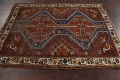 Pre-1900 Antique Ghashghaie Persian Area Rug 5x6 image 16