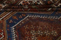 Pre-1900 Antique Ghashghaie Persian Area Rug 5x6 image 18