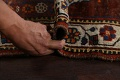 Pre-1900 Antique Ghashghaie Persian Area Rug 5x6 image 20