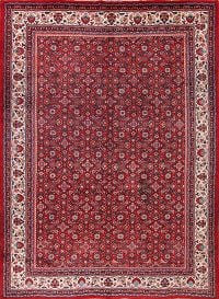 Vintage All-Over Floral Mahal Persian Hand-Knotted 10x13 Area Rug
