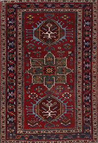 Antique 3x5 Heriz Serapi Persian  Area Rug