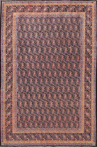 Paisley All-Over Navy Blue Kerman Persian Area Rug
