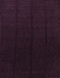 Dark Purple Gabbeh Indian Oriental Modern Area Rug 9x12