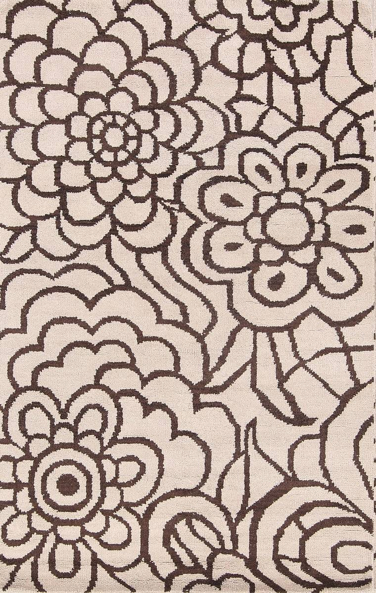 Transitional Floral 5x8 Moroccan Oushak Indian Oriental Area image 1