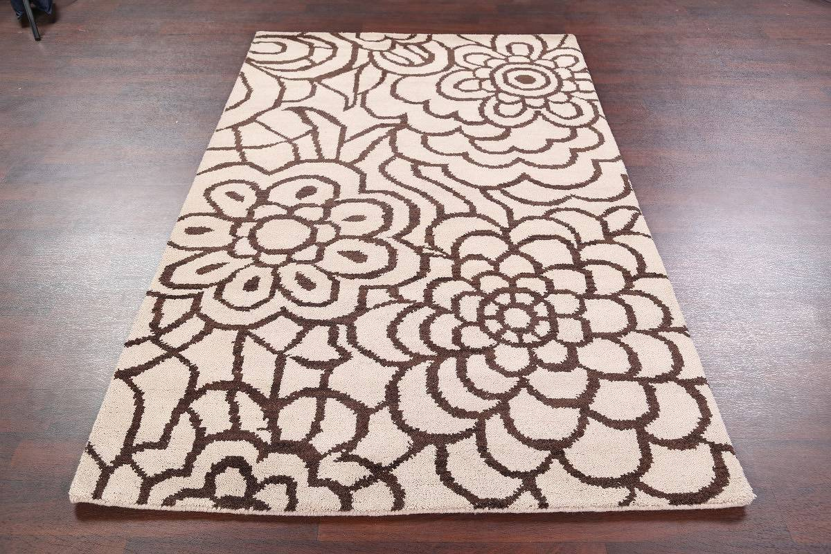 Transitional Floral 5x8 Moroccan Oushak Indian Oriental Area image 12