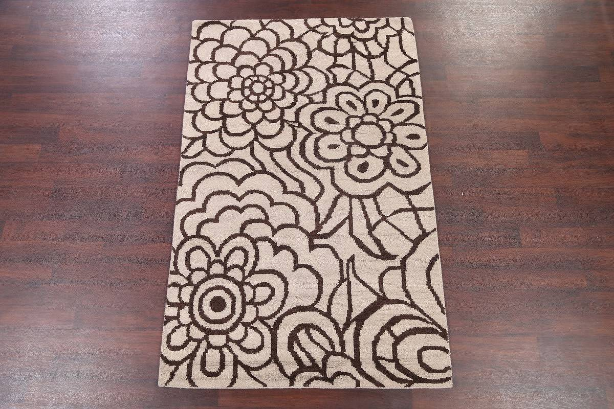 Transitional Floral 5x8 Moroccan Oushak Indian Oriental Area