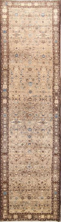 Floral 4x13 Malayer Hamedan Persian Rug Runner