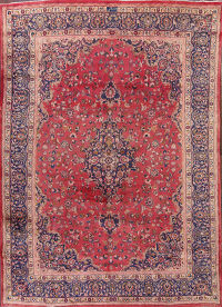 10x13 Signed Mashad Persian Area Rug