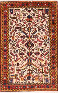 Geometric Tribal 3x5 Heriz Persian Area Rug