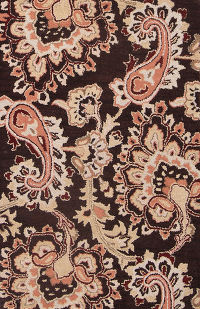 Hand-Tufted Paisley Dark Brown Oushak Oriental Area Rug 3x5