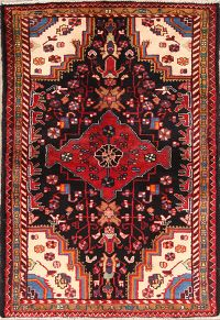 Geometric 3x5 Malayer Hamedan Persian Area Rug