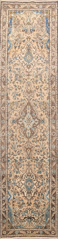 Floral Muted Color 4x15 Hamedan Persian Rug Runner