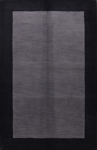 Grey/Black 5x8 Oushak Indian Oriental Area Rug