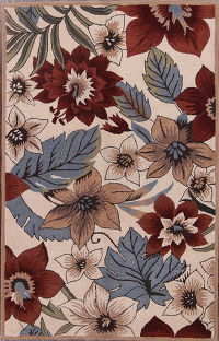Hand-Tufted Floral 5x8 Agra Oriental Area Rug