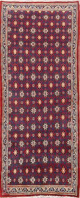 Geometric All-Over Mood Persian Wool Runner Rug 3x9
