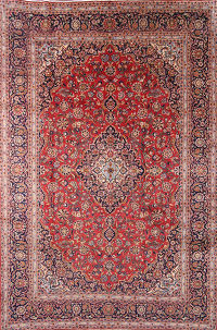 8x11 Kashan Persian Area Rug