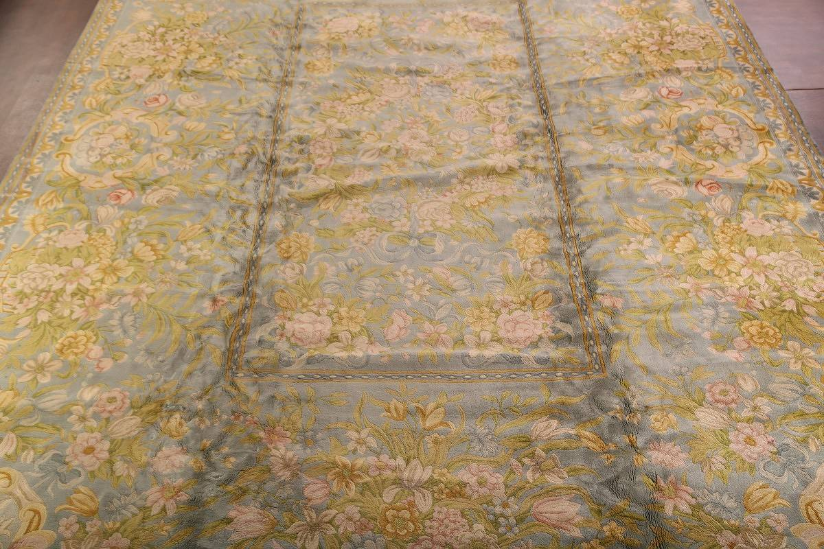 All-Over Floral Savonnerie French Oriental Area Rug 16x21 image 3
