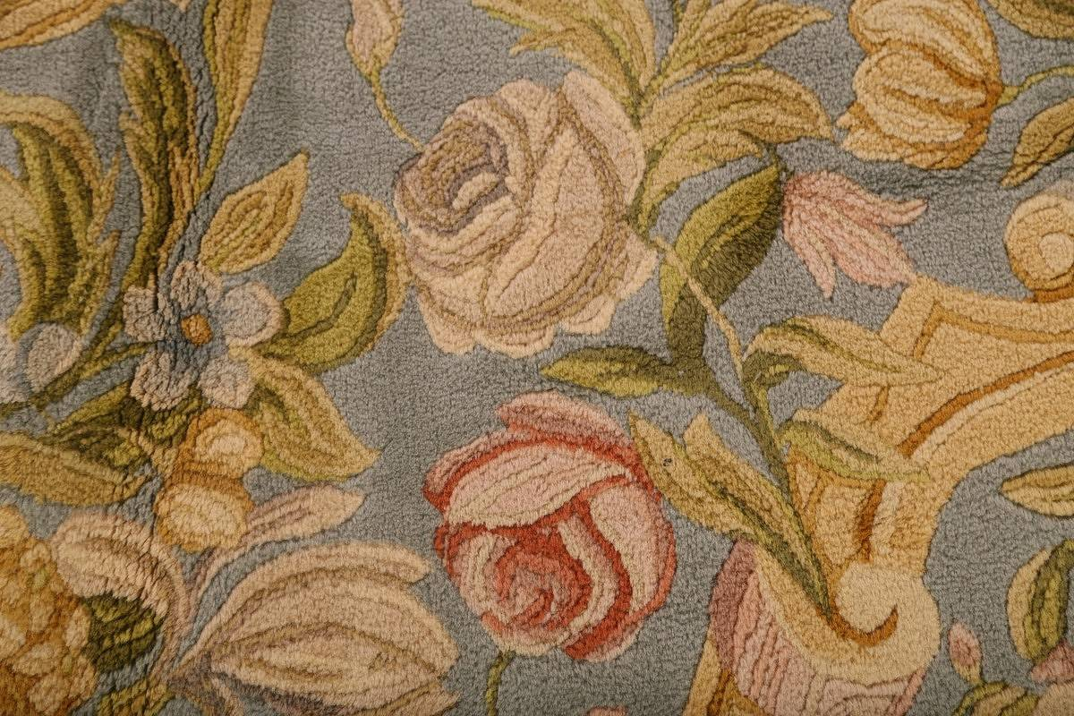 All-Over Floral Savonnerie French Oriental Area Rug 16x21 image 6