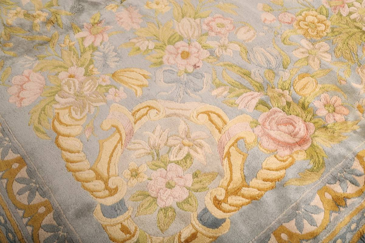 All-Over Floral Savonnerie French Oriental Area Rug 16x21 image 7