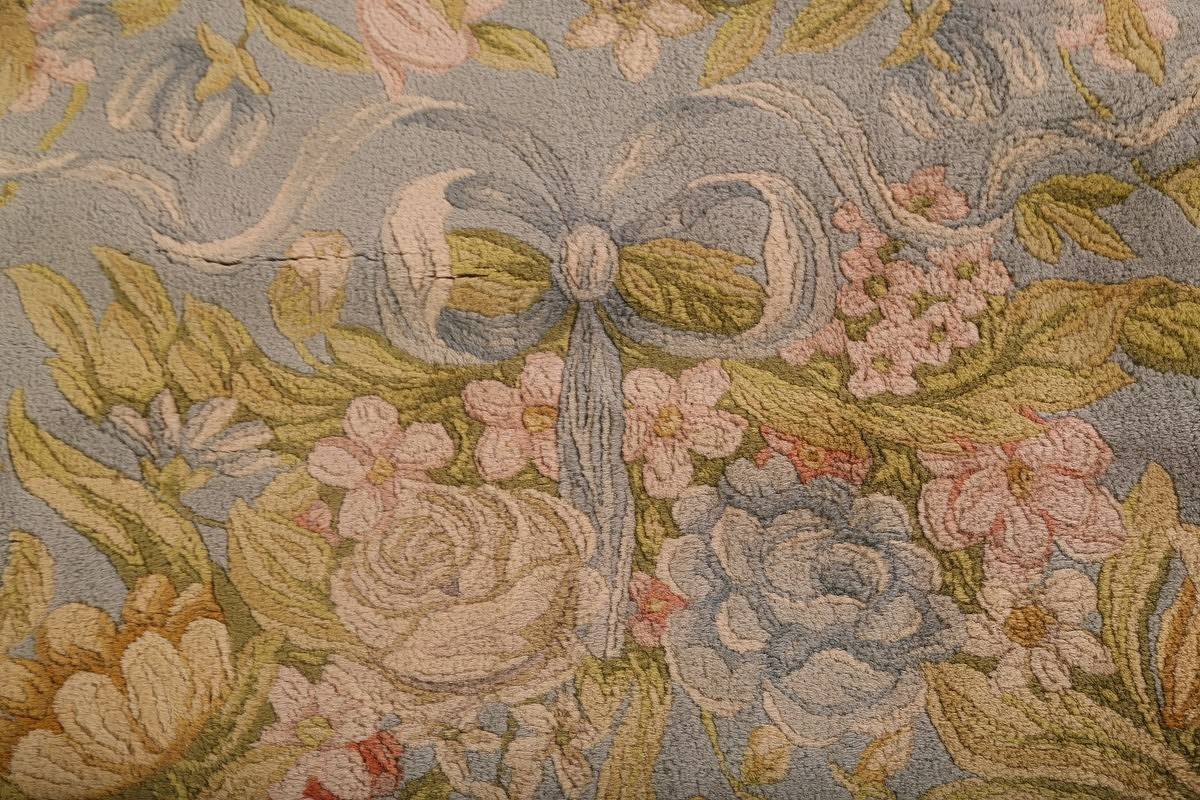 All-Over Floral Savonnerie French Oriental Area Rug 16x21 image 9