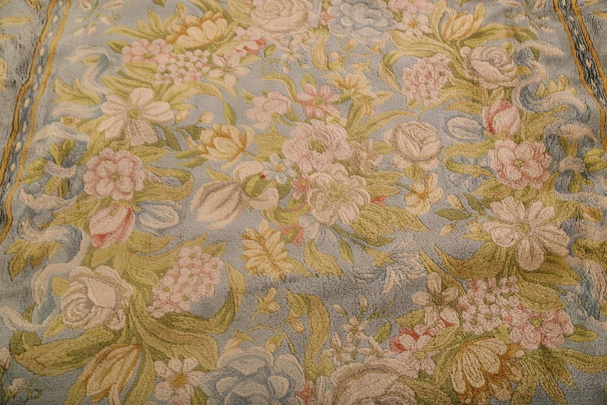 All-Over Floral Savonnerie French Oriental Area Rug 16x21 image 10