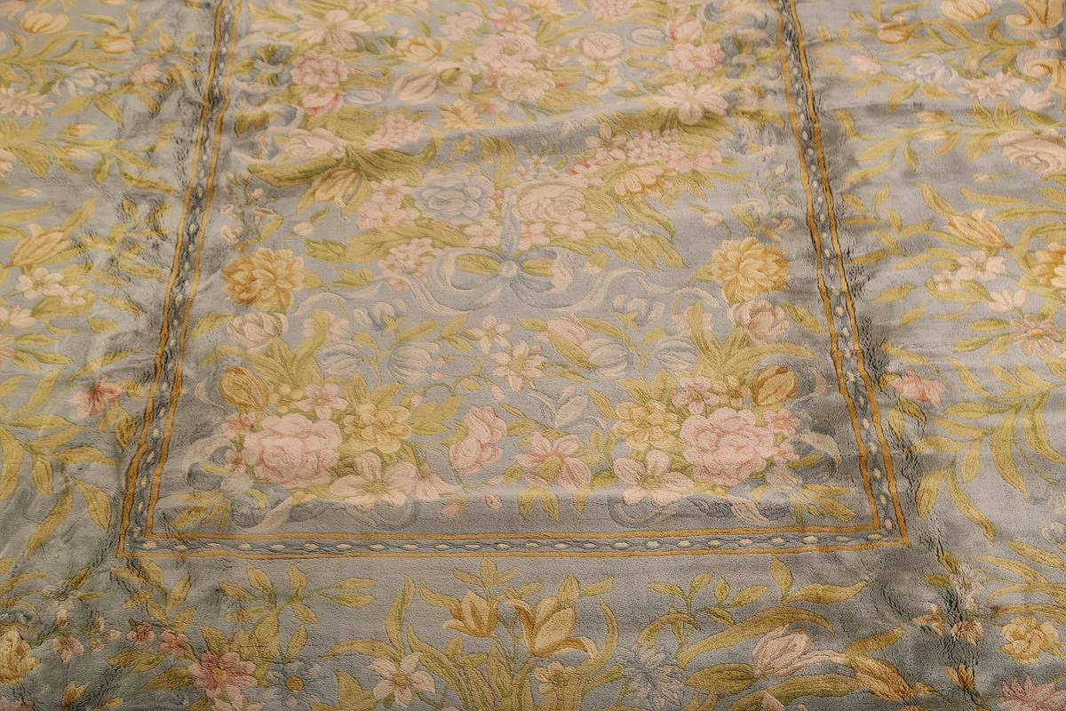 All-Over Floral Savonnerie French Oriental Area Rug 16x21 image 11