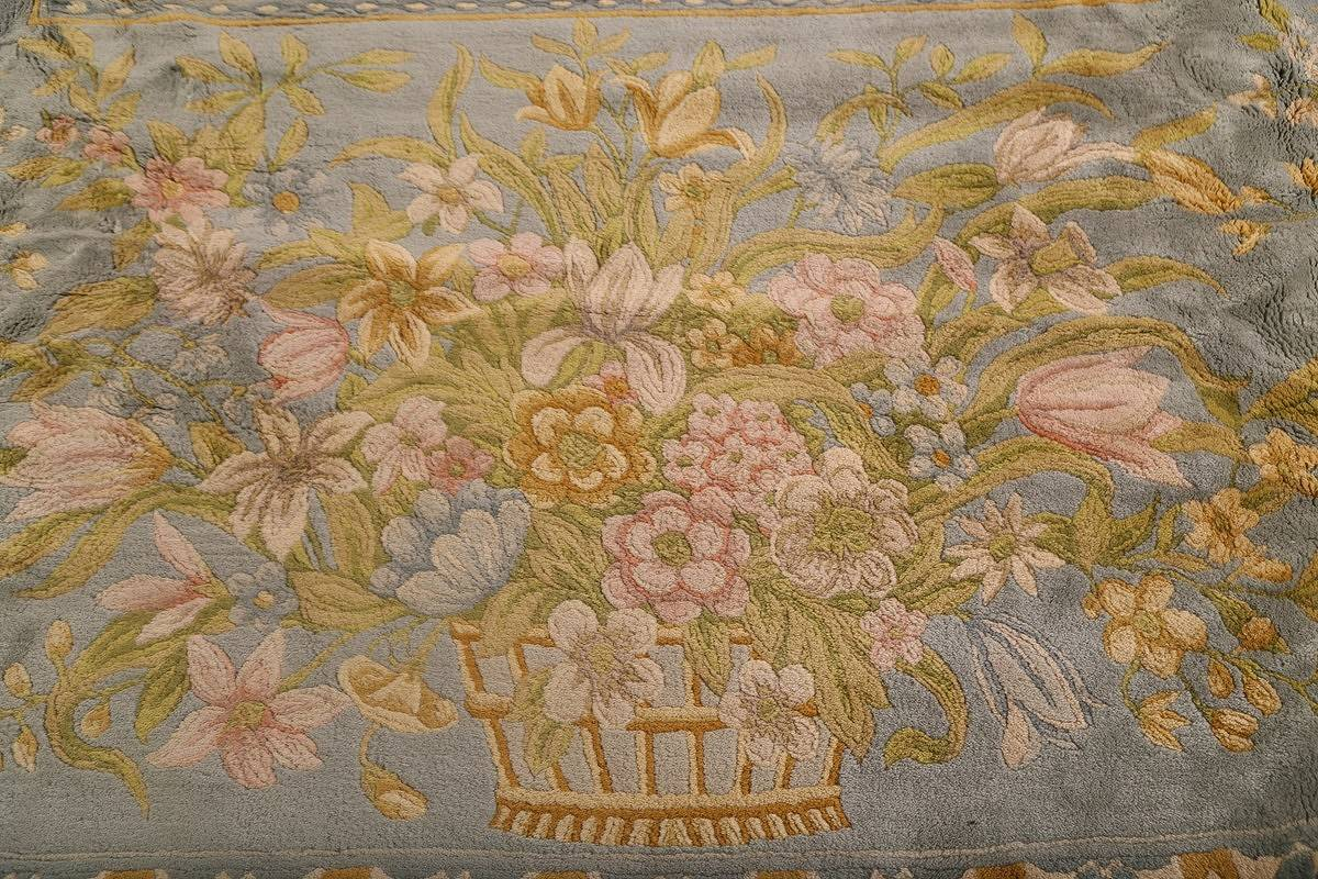 All-Over Floral Savonnerie French Oriental Area Rug 16x21 image 13