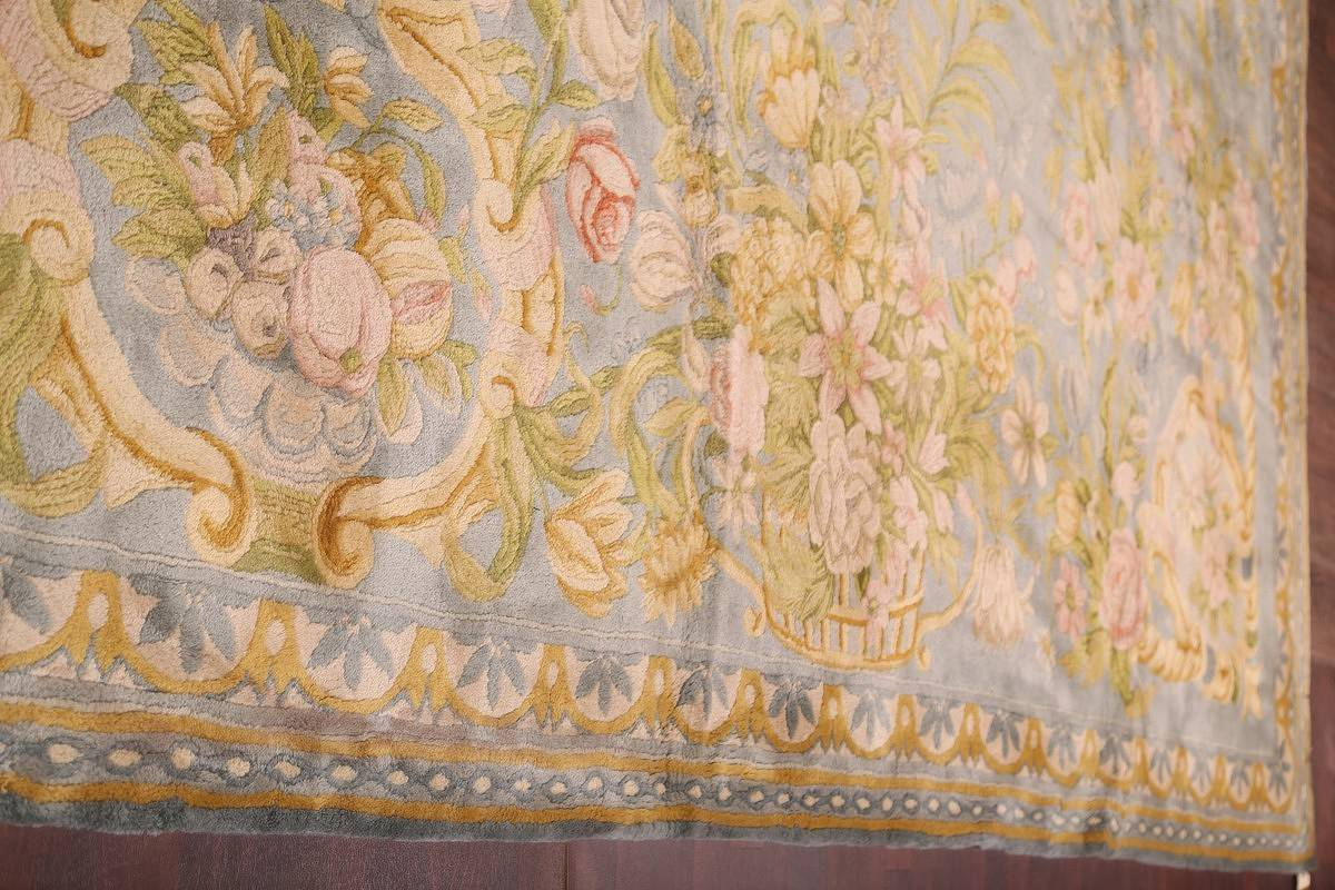All-Over Floral Savonnerie French Oriental Area Rug 16x21 image 15