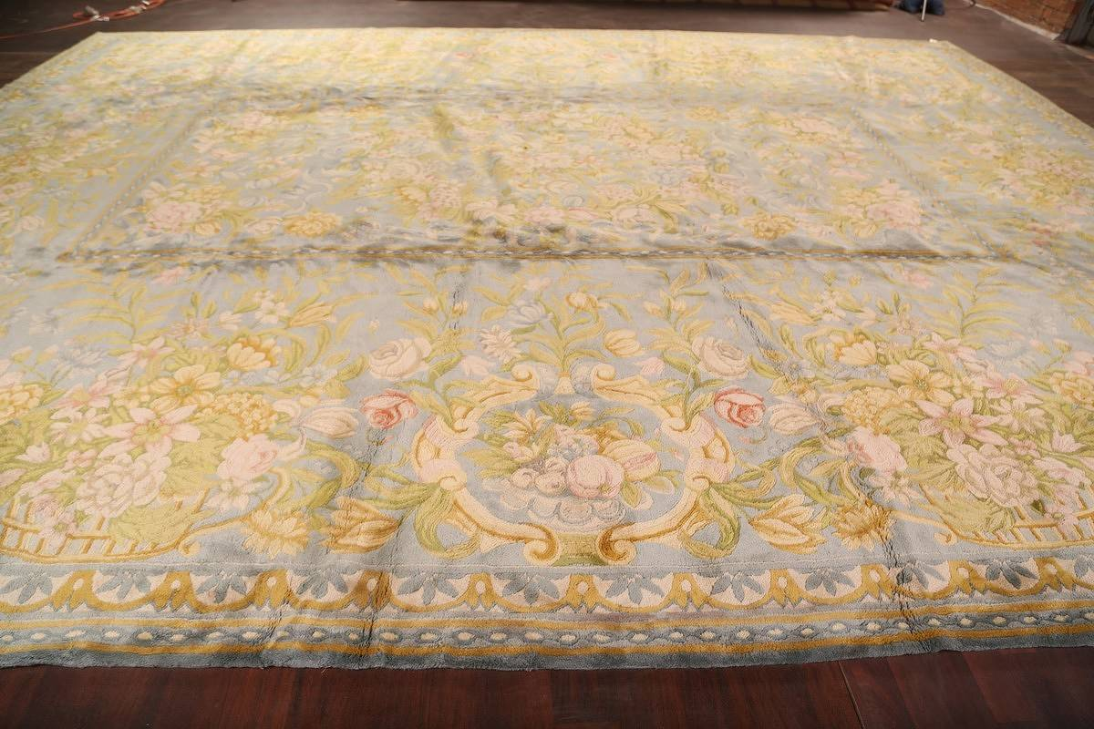 All-Over Floral Savonnerie French Oriental Area Rug 16x21 image 19