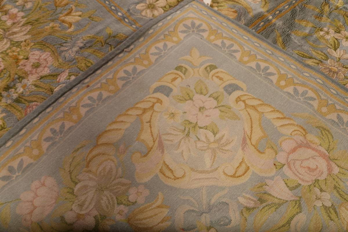 All-Over Floral Savonnerie French Oriental Area Rug 16x21 image 24