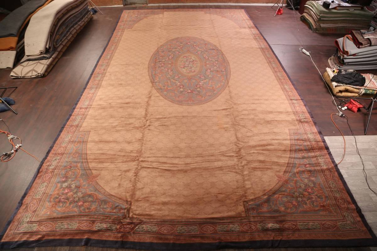 15x29 Aubusson Savonnerie French Oriental Area Rug image 2