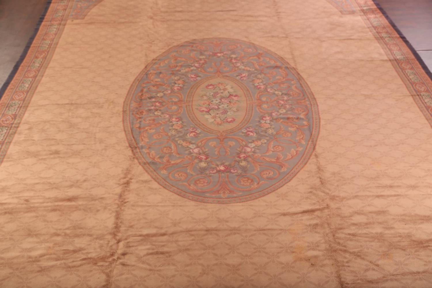 15x29 Aubusson Savonnerie French Oriental Area Rug image 3