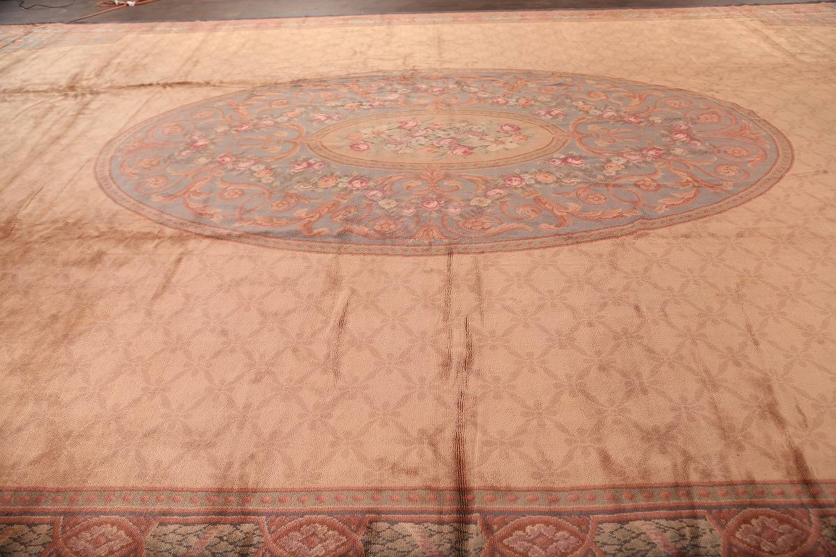 15x29 Aubusson Savonnerie French Oriental Area Rug image 8