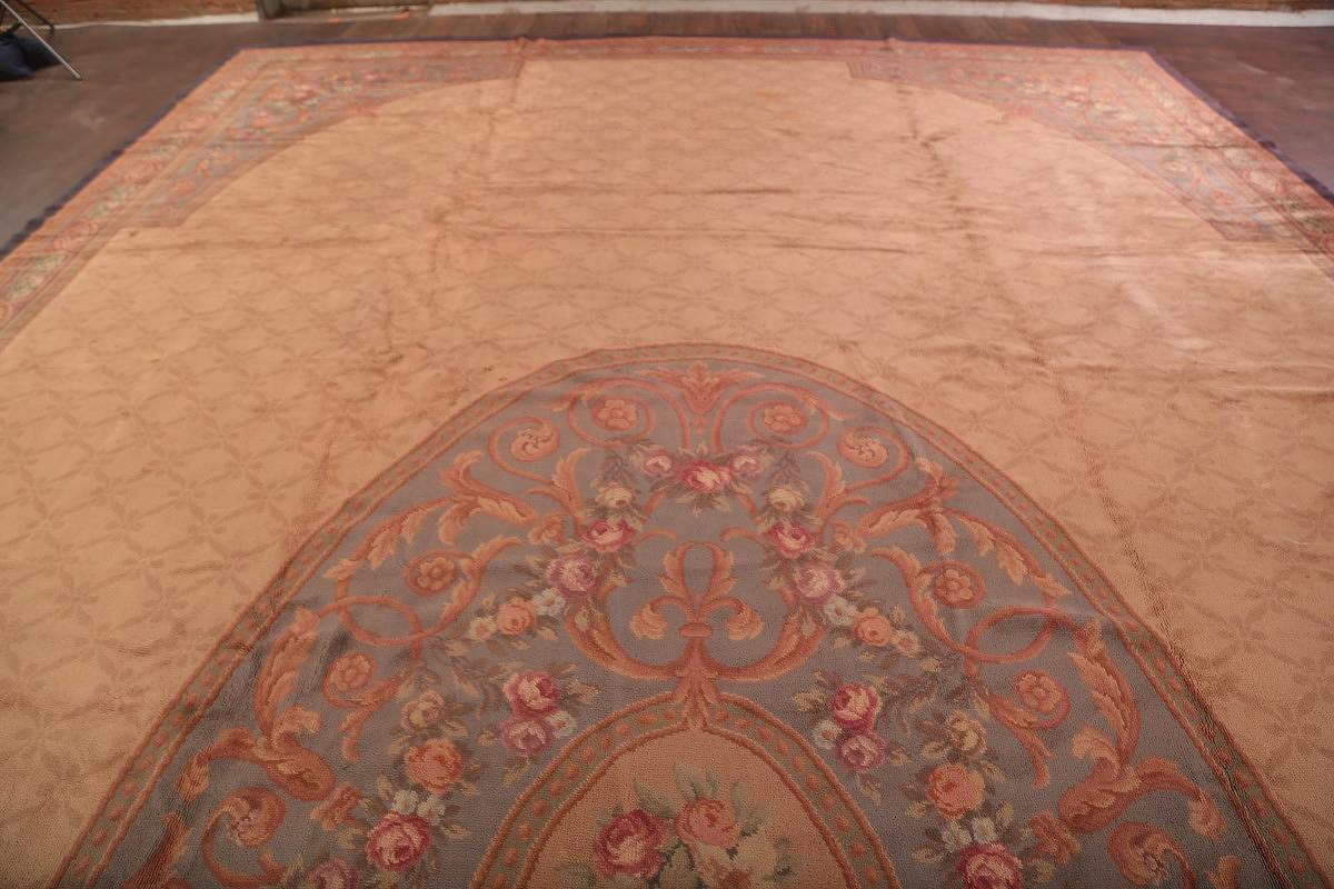 15x29 Aubusson Savonnerie French Oriental Area Rug image 9