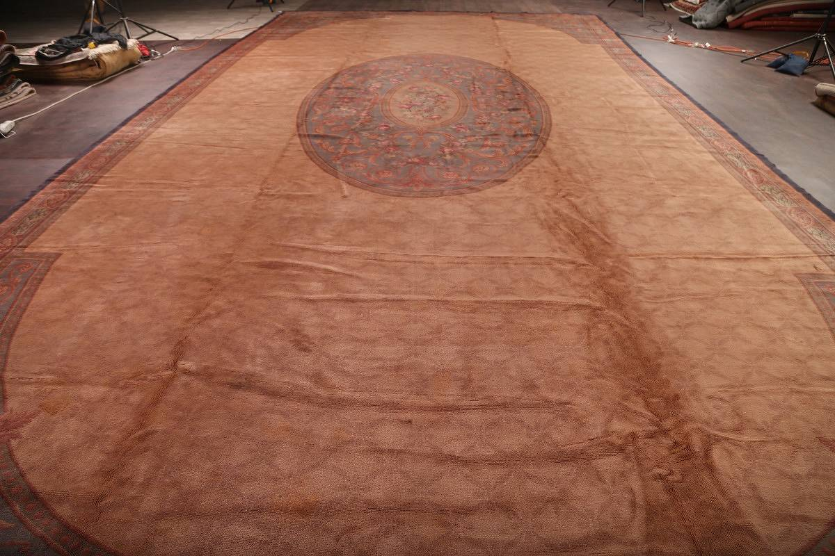 15x29 Aubusson Savonnerie French Oriental Area Rug image 21