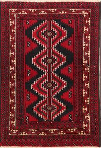 Geometric Tribal Foyer Size 4x6 Balouch Persian Area Rug