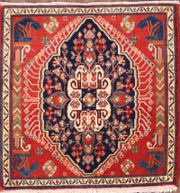 2x2 Abadeh Shiraz Persian Area Rug