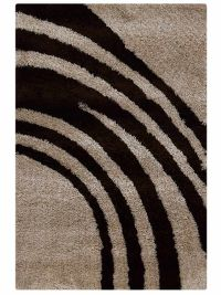 Contemporary Abstract Soft 5x8 Shaggy Oriental Area Rug