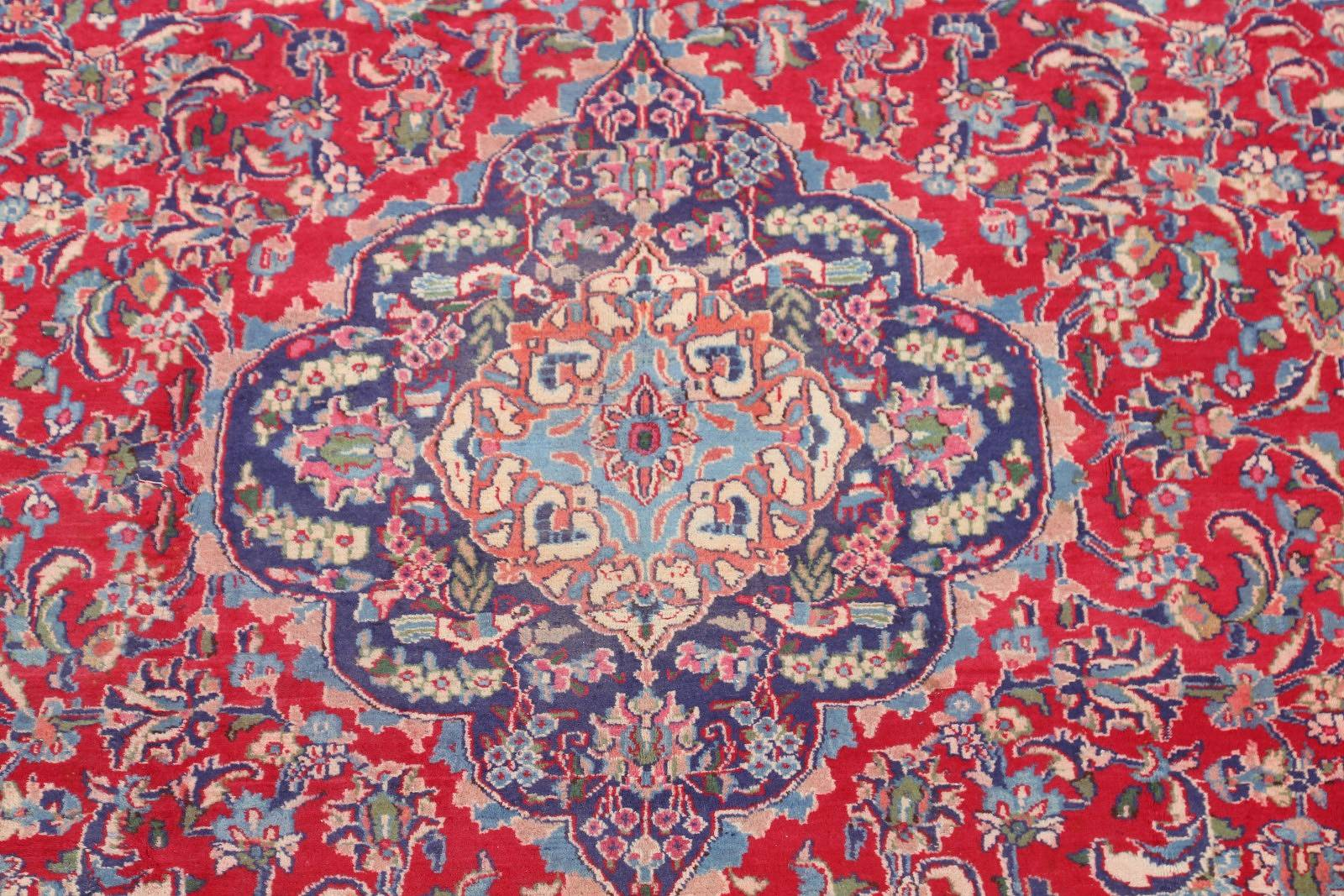 Floral 10x13 Mashad Persian Area Rug