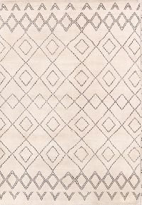 Geometric Modern 6x8 Moroccan Indian Oriental Area Rug