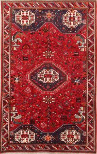 Tribal Nomad 5x8 Shiraz Persian Area Rug