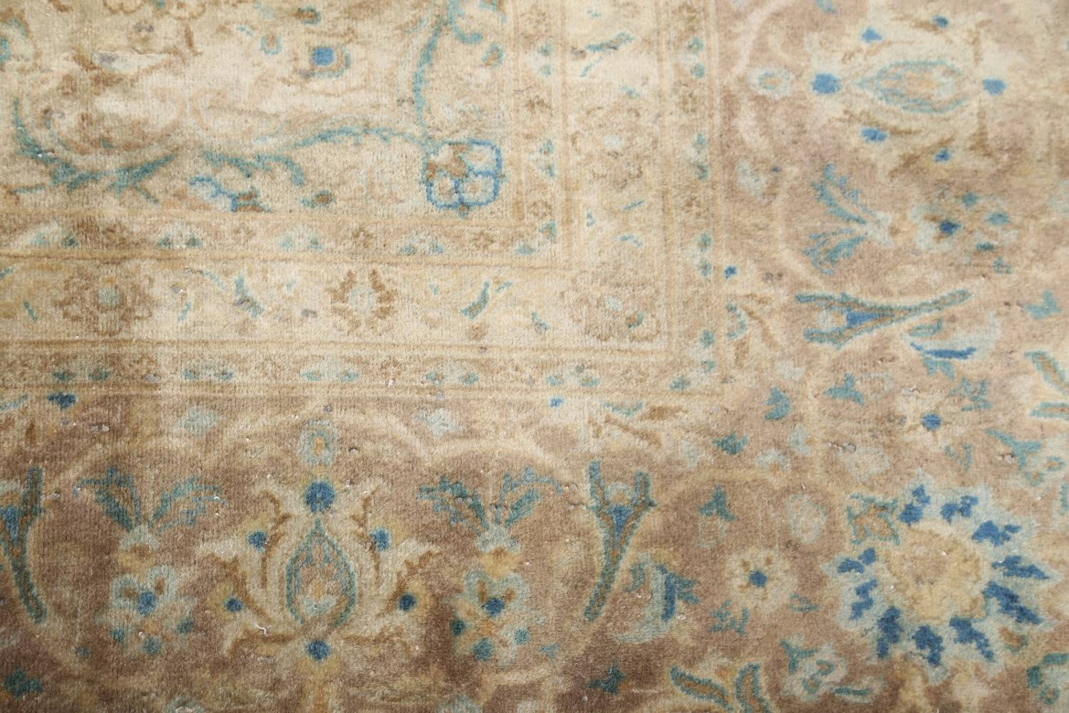 Antique Muted Distressed Kashan Persian Area Rug 9x13 image 14