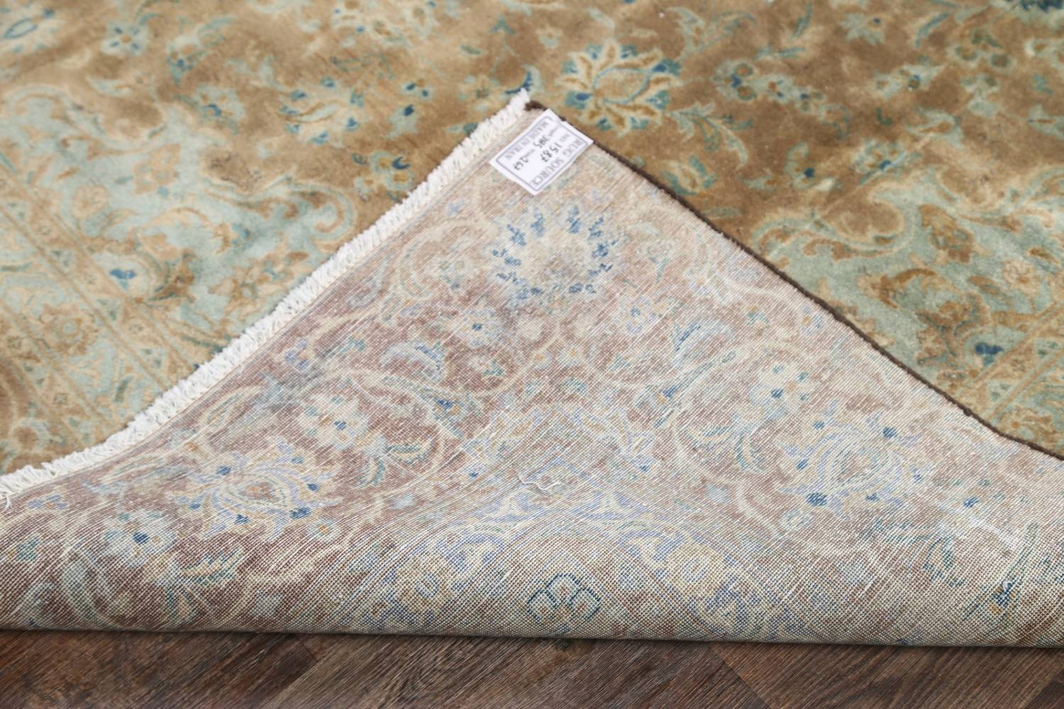 Antique Muted Distressed Kashan Persian Area Rug 9x13 image 25