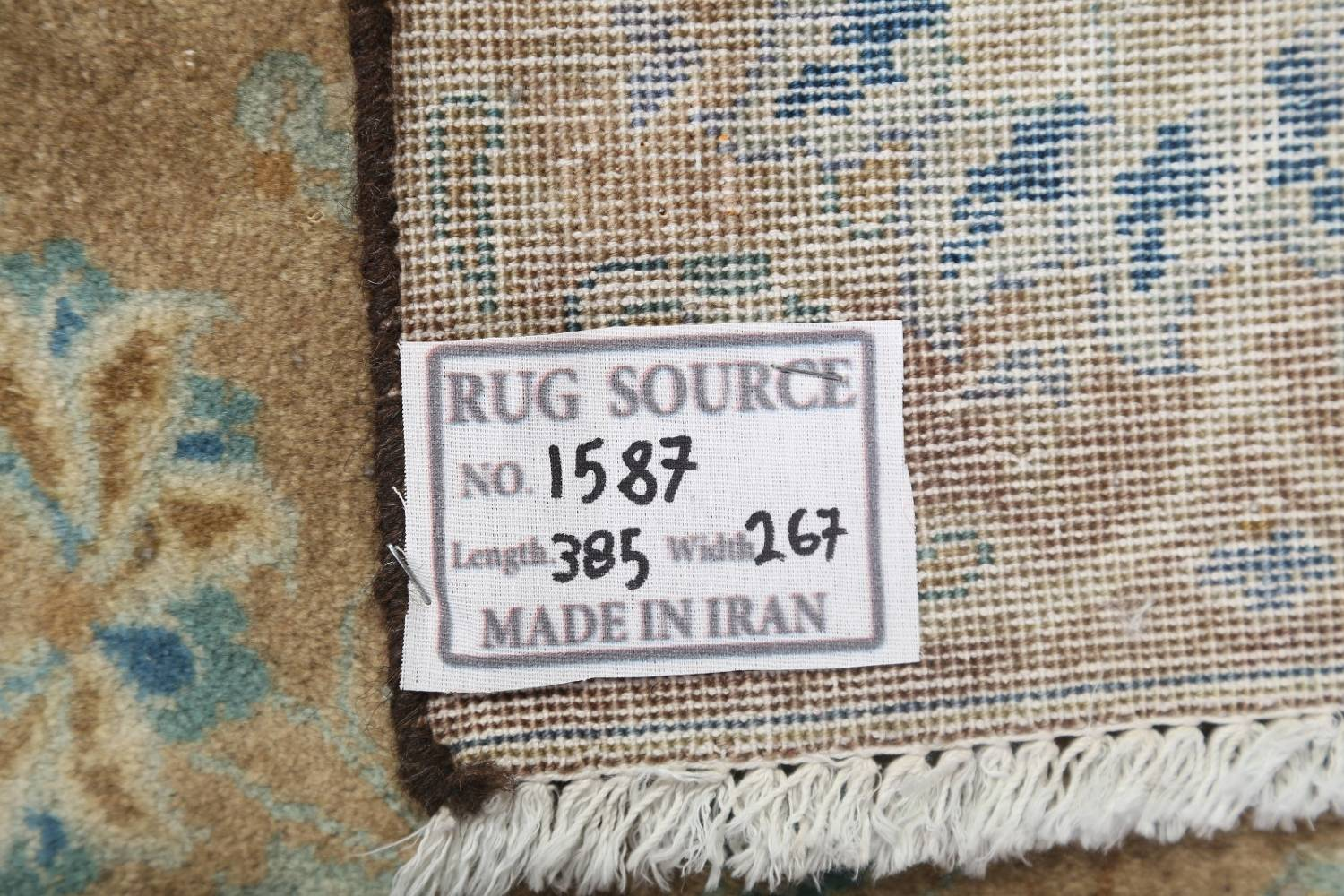 Antique Muted Distressed Kashan Persian Area Rug 9x13 image 26