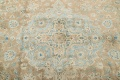 Antique Muted Distressed Kashan Persian Area Rug 9x13 image 9