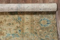 Antique Muted Distressed Kashan Persian Area Rug 9x13 image 23