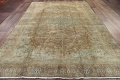 Antique Muted Distressed Kashan Persian Area Rug 9x13 image 21