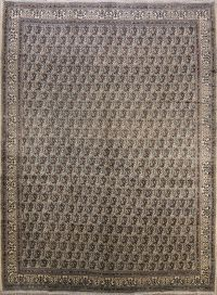 Antique All-Over Mood Persian Hand-Knotted Area Rug 10x14